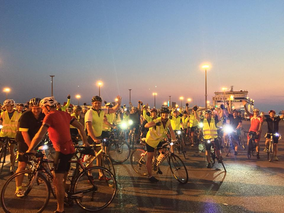 London to Paris Cycle Challenge 2018 - Departing ferry at Calais