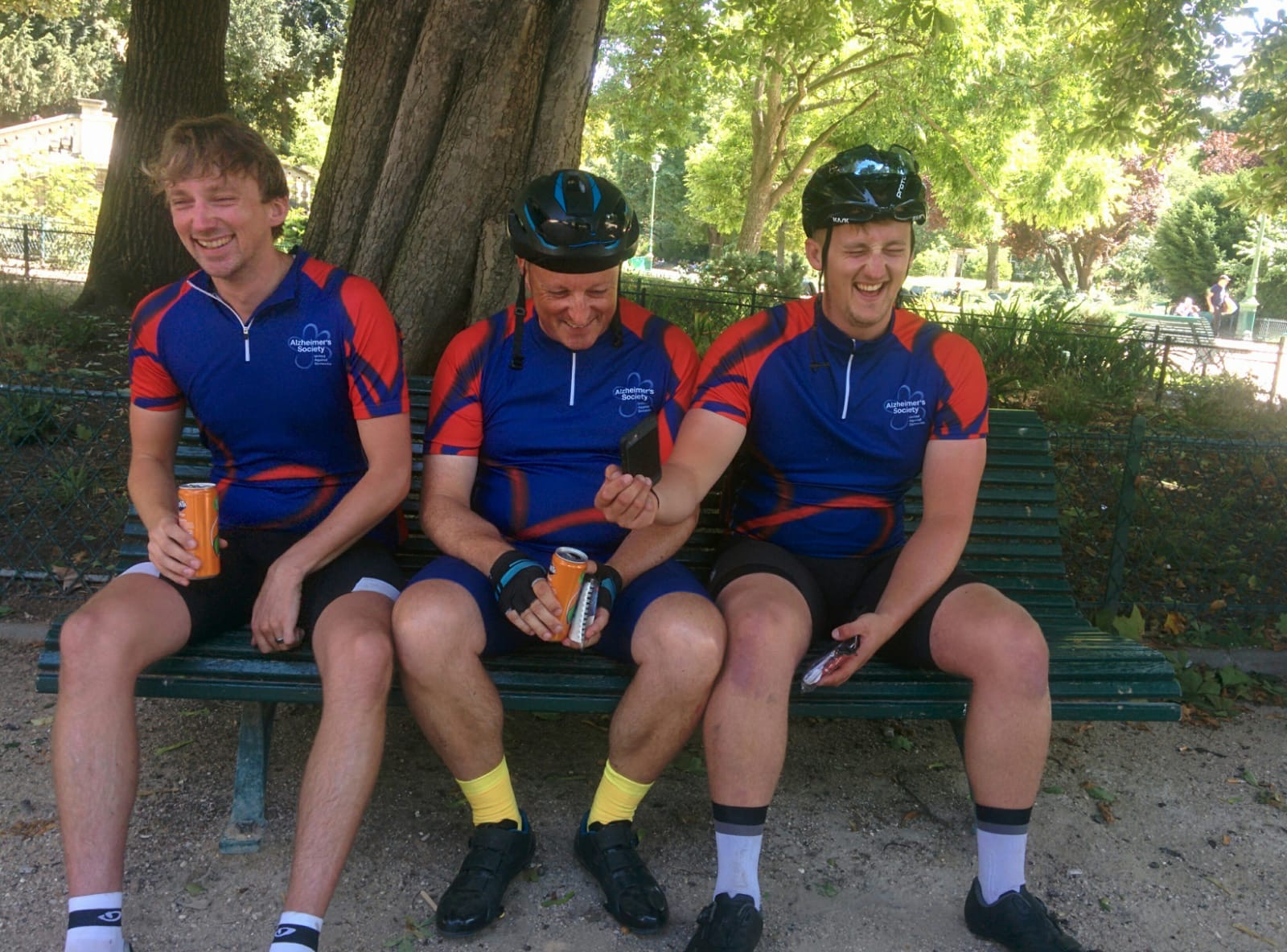 London to Paris Cycle Challenge 2018 - Fits of laughter