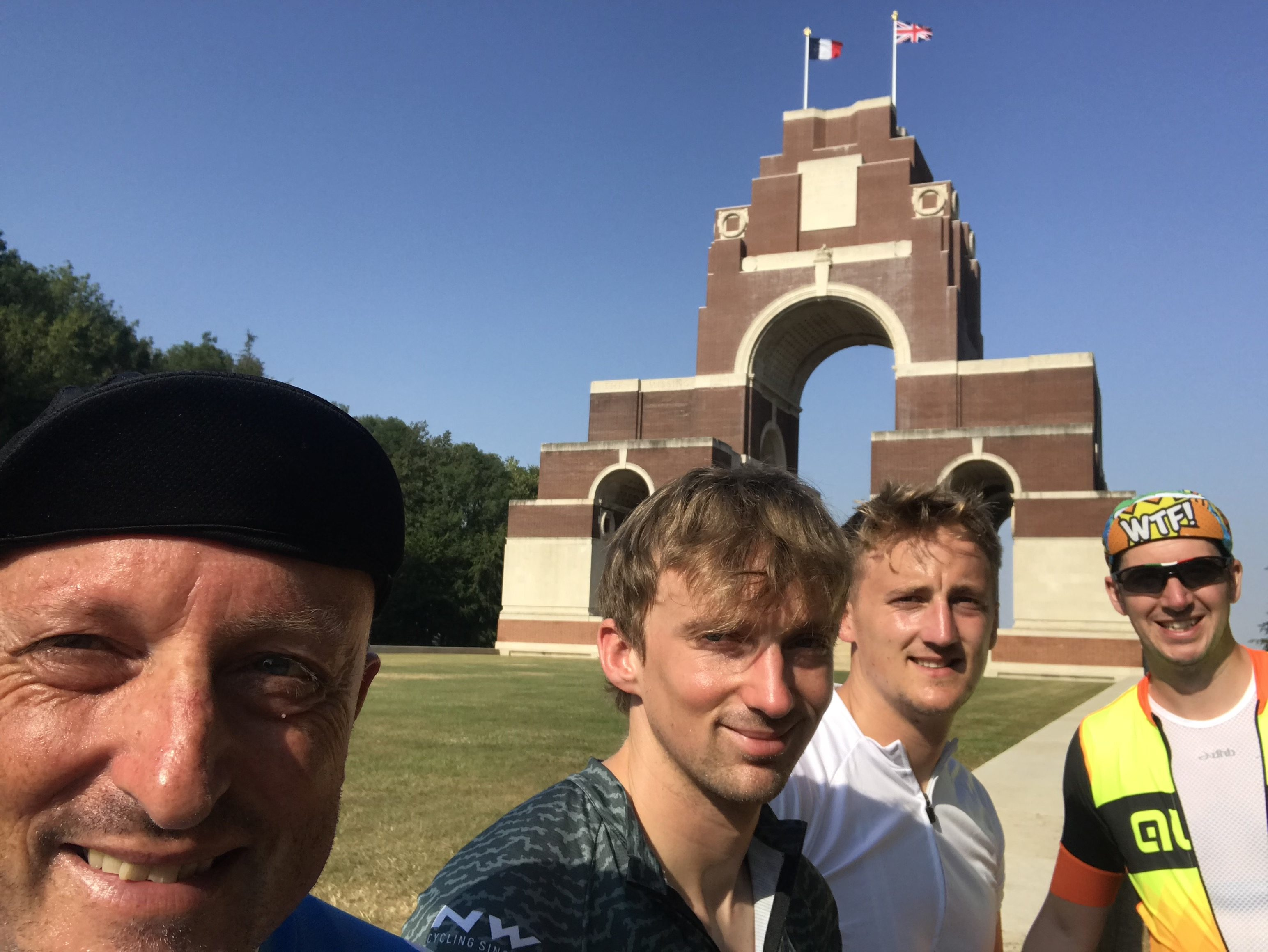 London to Paris Cycle Challenge 2018 - The Thiepval Memorial