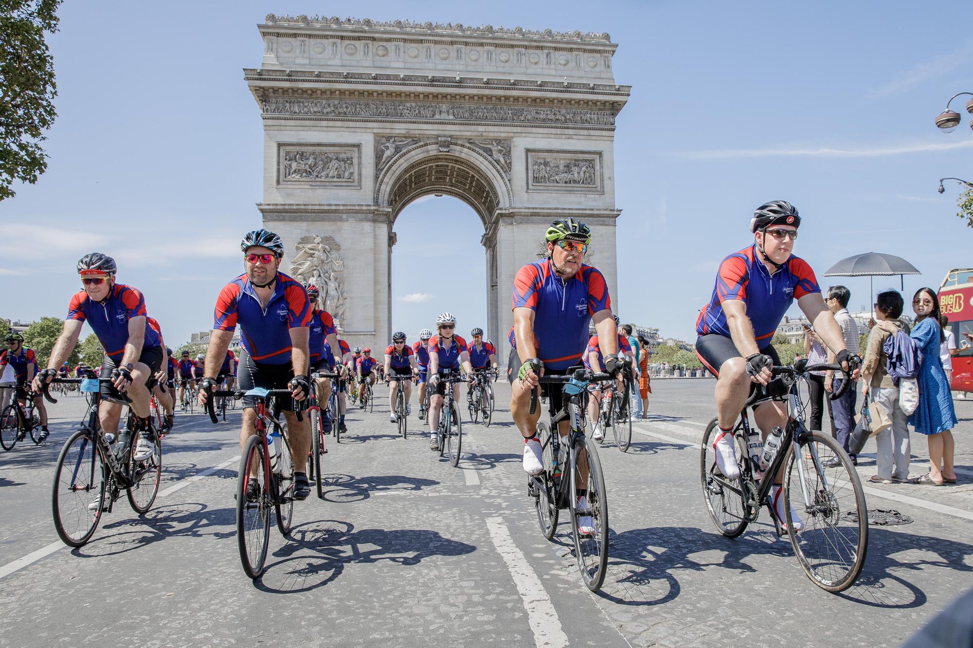 London to Paris Cycle Challenge 2018 - Arc de Triomphe