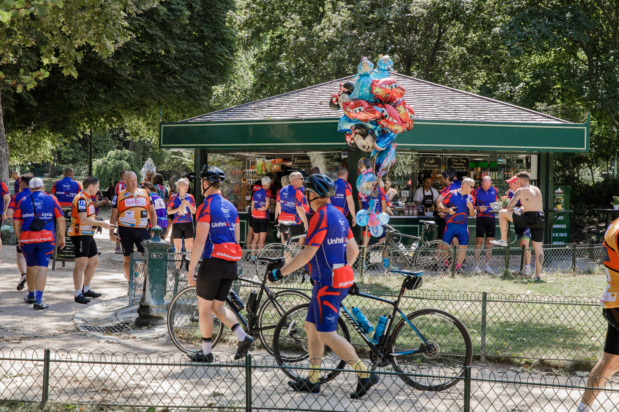 London to Paris Cycle Challenge 2018 - Drinks and ice creams