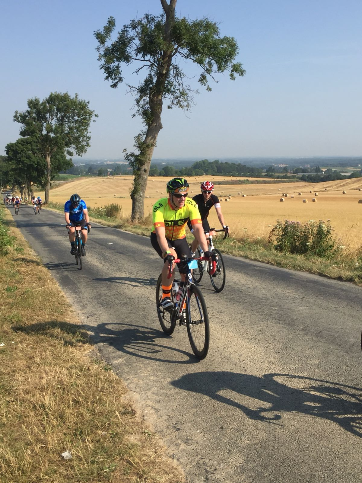 London to Paris Cycling Challenge 2018 - Slogging it out in 46+ degrees heat