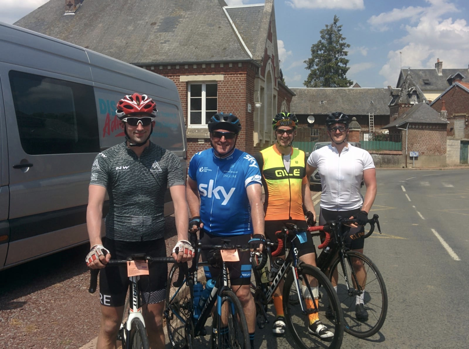 London to Paris Cycle Challenge 2018 - After lunch on day 3